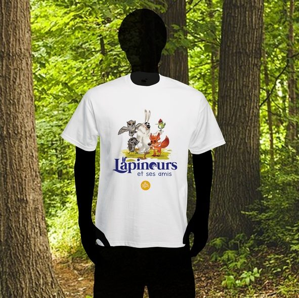 t-shirt tee-shirt lapinours et ses amis big pepper