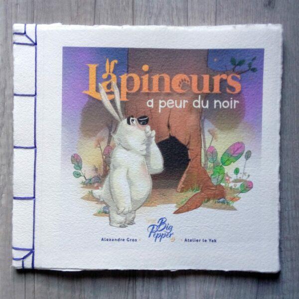 lapinours a peur du noir édition collector papier artisanal Big Pepper Atelier Le Yak