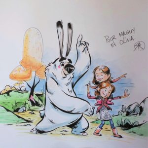 dessin original Lapinours enfants éditions big pepper romain virly atelier le yak