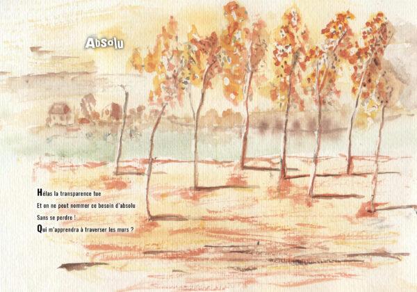 hymne a la vie bettie chiron poèmes aquarelle livre éditions big pepper page intérieure