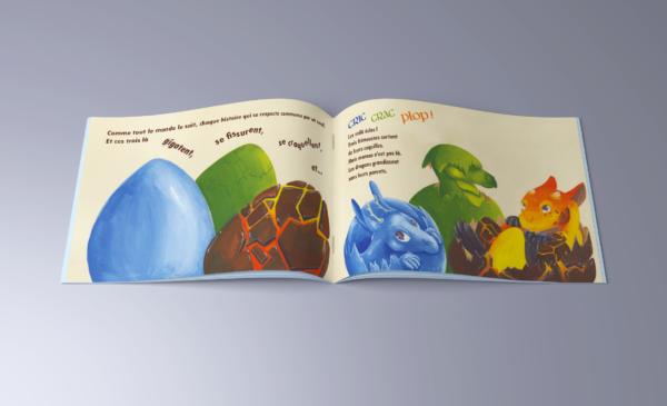 3 petits dragons les contes de sacha batoufflet éditions big pepper page intérieure