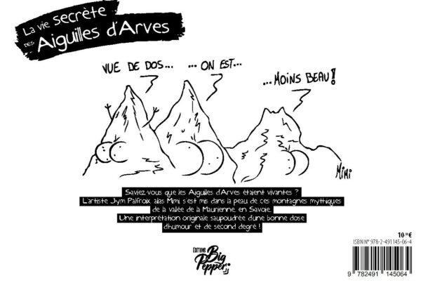 La vie secrète des Aiguilles d'Arves Jym Palfroix éditions Big Pepper dernière de couverture