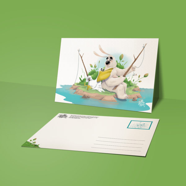 carte postale lapinours et le pélican Alexandre gros atelier le yak éditions big pepper