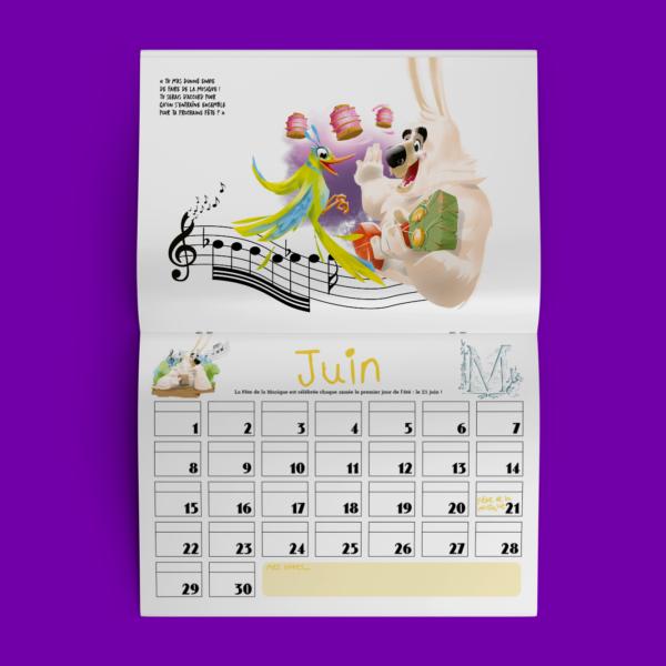 calendrier de Lapinours fetes alexandre Gros atelier le yak éditions big pepper